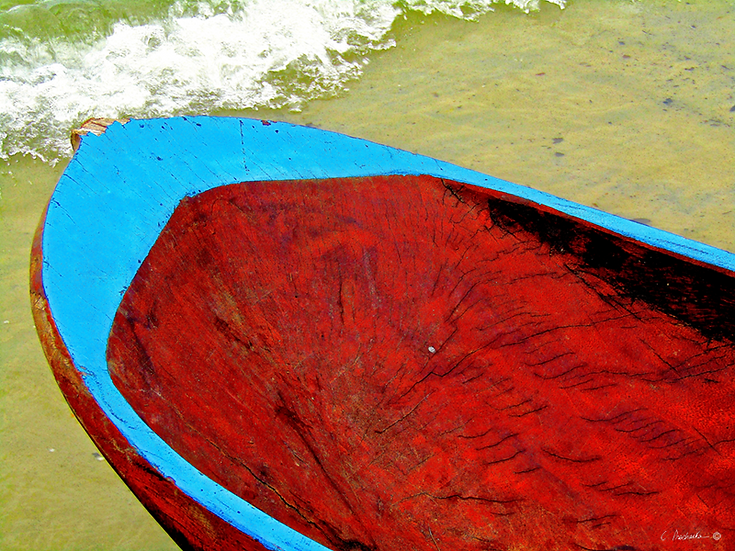 Sunburst Red on Sky Blue CP00730
