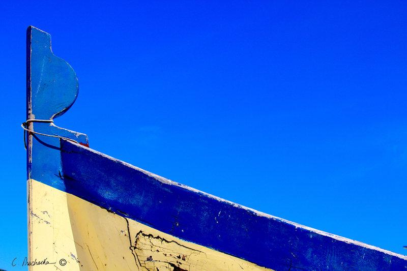 Blue Rail and Blue Sky  CA00134