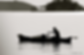 Silhouette of fishing canoe