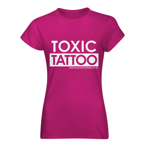 Toxic Tattoo Box Logo - Ladies Fitted T-Shirt
