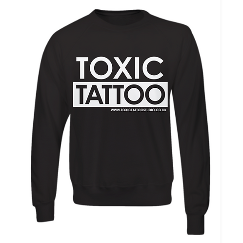Toxic Tattoo Box Logo - Sweatshirt (Black)