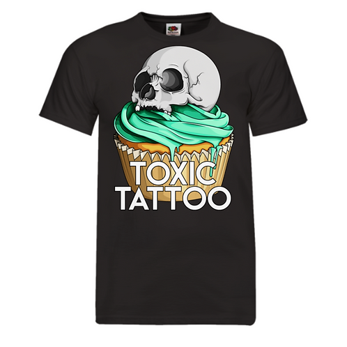 Toxic Tattoo Original Cupcake Logo - Men's T-Shirt