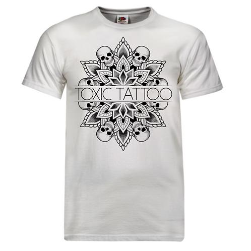 Toxic Tattoo Skull Mandala - Men's T-Shirt