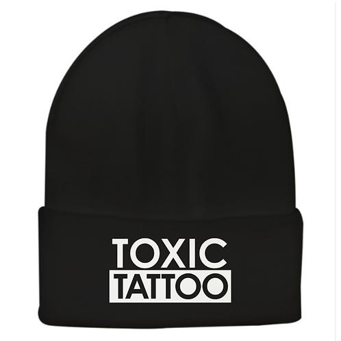 Toxic Tattoo Box Logo - Embroidered Beanie (Black or White)