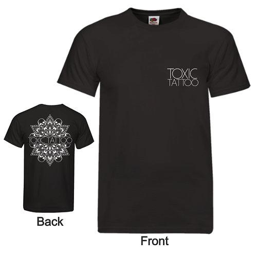 Toxic Tattoo Skull Mandala Double Sided - Men's T-Shirt