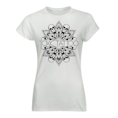 Toxic Tattoo Skull Mandala - Ladies Fitted T-Shirt