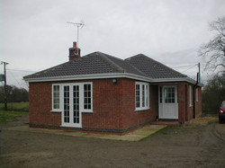 Bungalow extension - close up