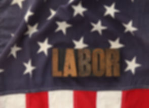 the word labor in old letterpress wood t