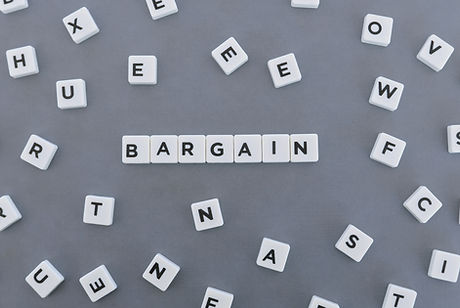 Bargain word made of square letter word