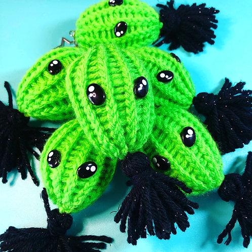 Hand Knit Alien Tassel