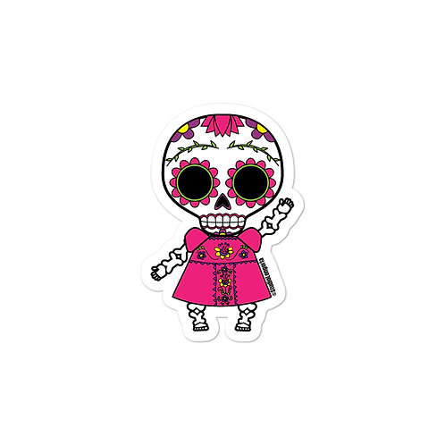 Pink Muertos Bubble-free stickers