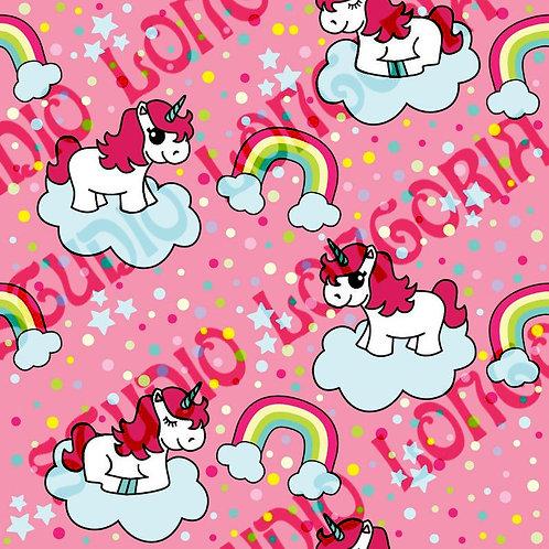 Pink Unicorns Fabric