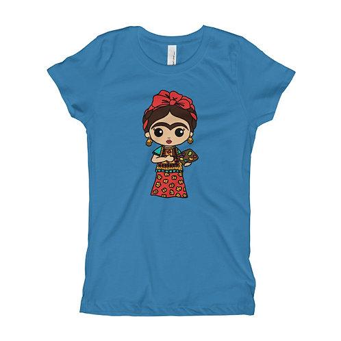 Frida Painting Girl's Slim Fit Tee