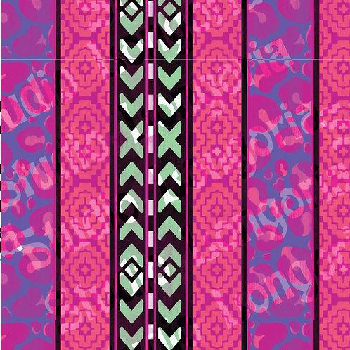 Modern Serape-Pink Leopard Stripes Vertical