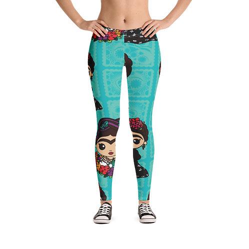 Little Fridas Print Women's Leggings