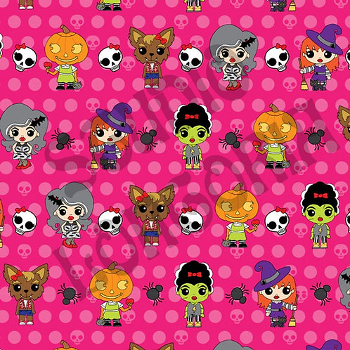 Ghouly Girls Dots Fabric