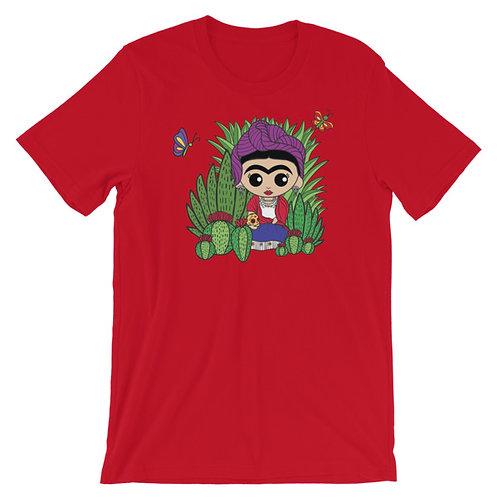 Frida con Calavera Adult Unisex T-shirt