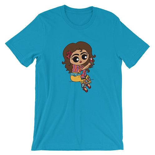 Señorita with Bird Adult Unisex T-shirt