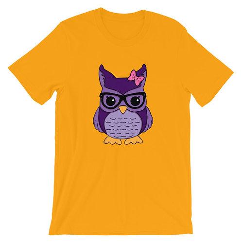 Nerdamals Owl Adult Unisex T-shirt
