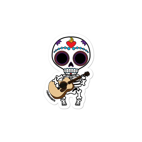Guitar Muertos Bubble-free stickers