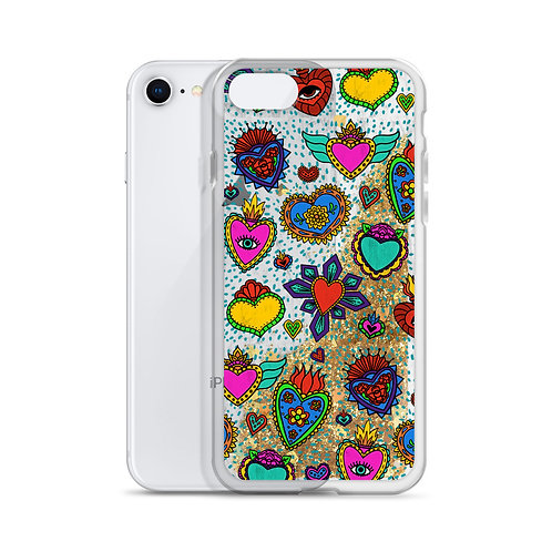 Corazon Milagros Liquid Glitter Phone Case