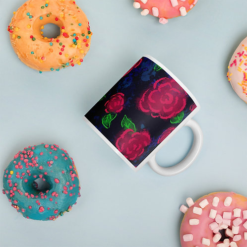 Neon Blooms Mug