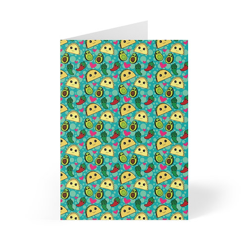 Taco Party Greeting Cards (8 pcs)