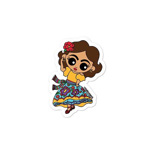 Dancing Señorita Bubble-free stickers
