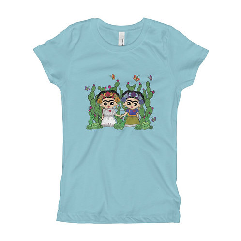 Two Fridas Girl's Slim Fit Tee