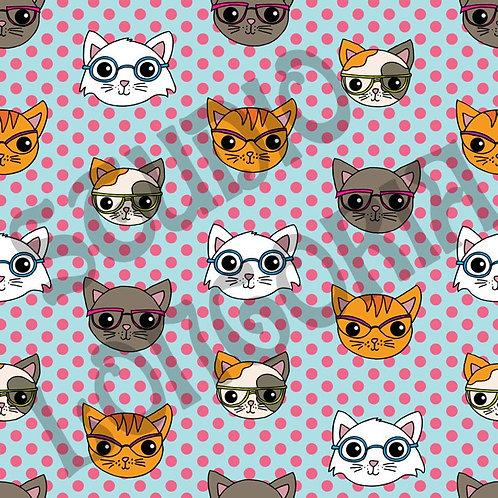 Nerdy Cats Fabric