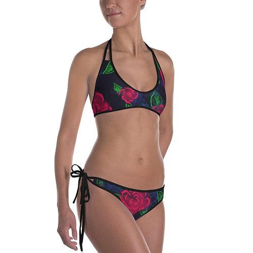 Neon Blooms Bikini