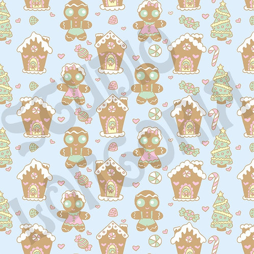 Gingerbread Town Fabric