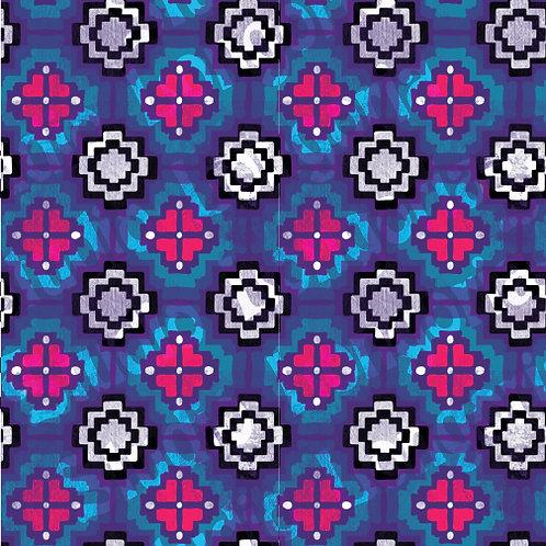 Modern Serape-Floral Tiles