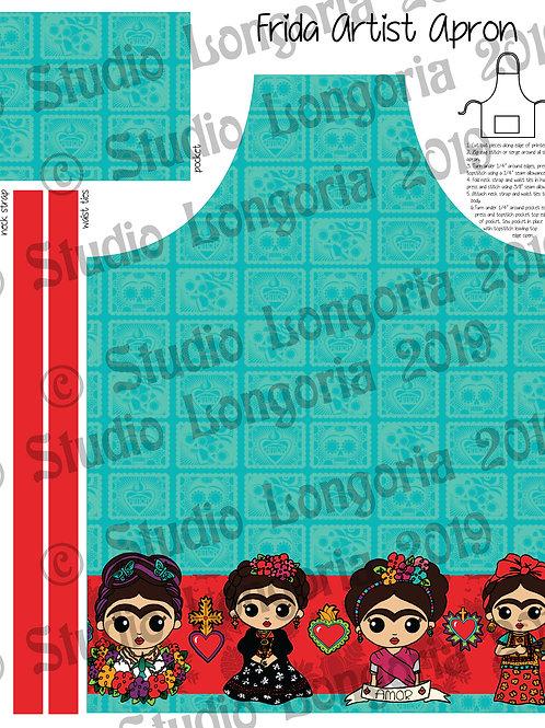 DIY Apron Fabric Panel Frida Artist