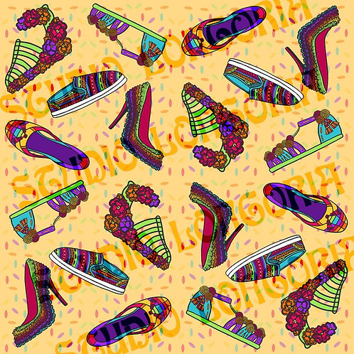 Fiesta Shoes Fabric
