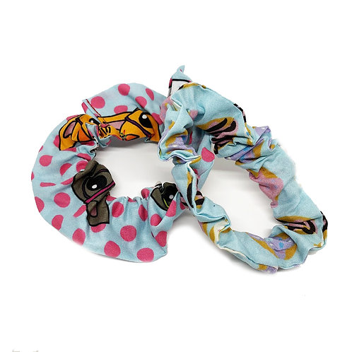 Cats and Donuts Scrunchie