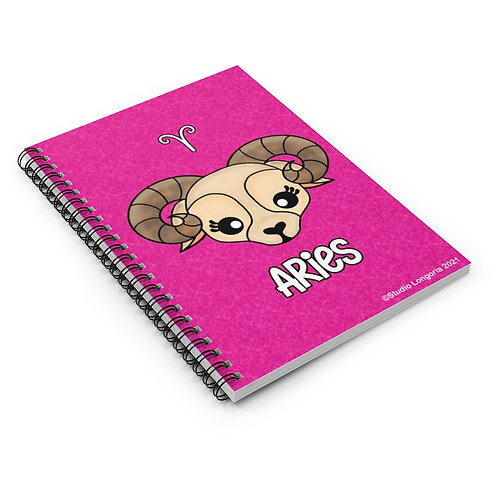 Aries Spiral Notebook - Ruled Line