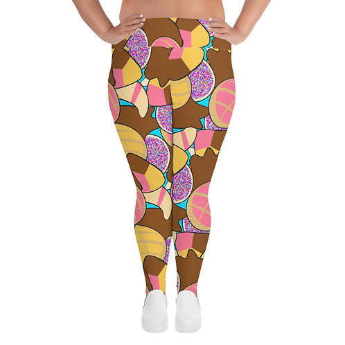 Pan Dulce Overload Print Women's Plus Size Leggings