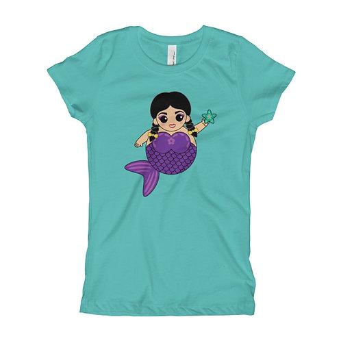 Purple Sirena Girl's Slim Fit Tee