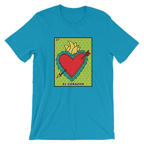 EL Corazon Loteria Adult Unisex T-shirt