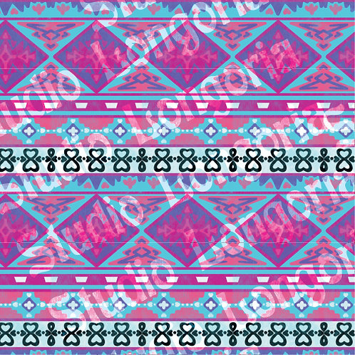 Modern Serape-Purple Diamond Stripe Horizontal