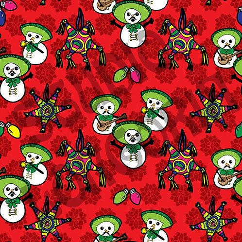 Mariachi Snowmen Fabric