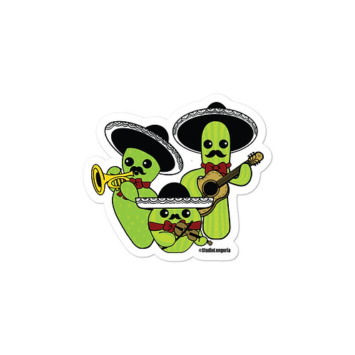 Mariachi Cacti Bubble-free stickers