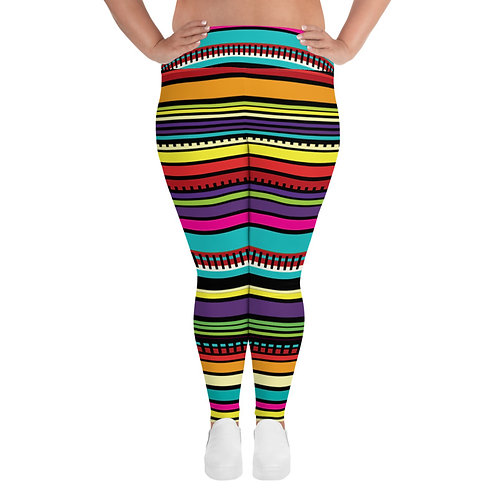 Serape Print Women's Plus Size Leggings