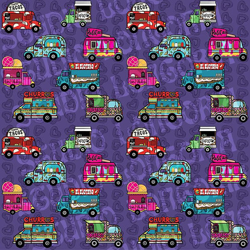 Food Trucks Fabric