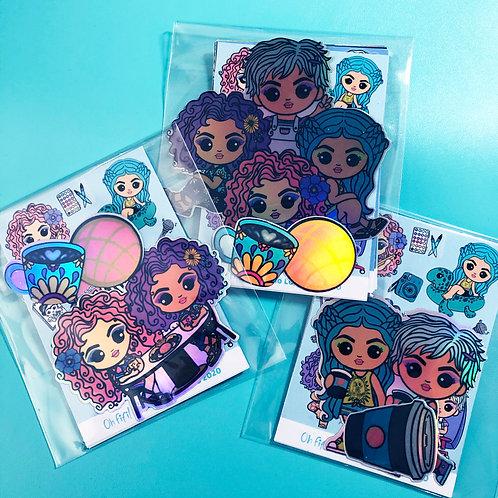 Oh Fifi Sticker Packs- Friends