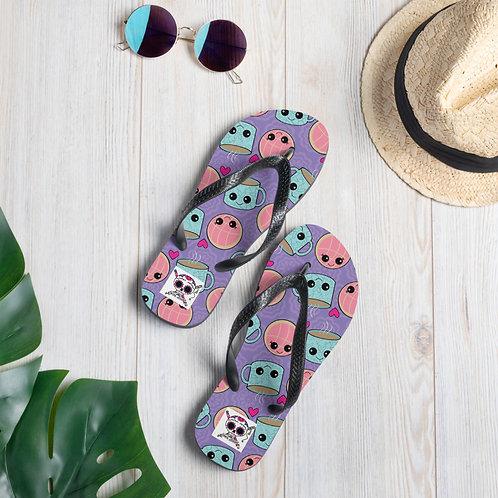 Conchas y Cafecito Flip Flops