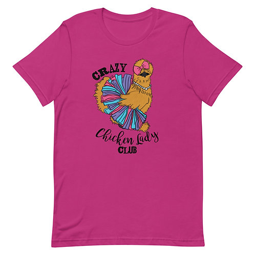 Crazy Chicken Lady Club Short-Sleeve Unisex T-Shirt