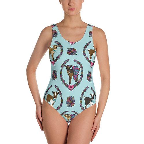 Fancy Goats One-Piece Swimsuit