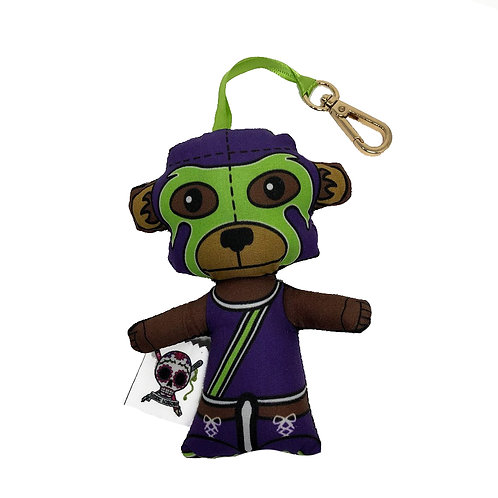 Luchamal Monkey Plush Keychains